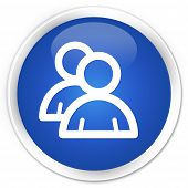 Group Icon Blue Button