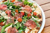 Presunto italiano e Pizza de rúcula.