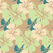 Hibiscus Seamless Background