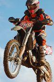 Motocross Rider Airborne