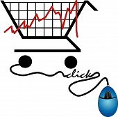 Shopping Cart Graph With Mouse Click