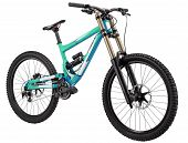 foto of mountain chain  - Two suspension mountain bike - JPG