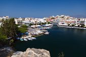 Panorama Of Aghios Nikolaos Town In Crete