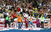 England Fans Celebrate After Scoring Against Sweden
