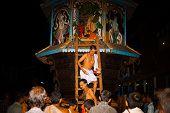 Brahmin Priest Exiting Ratha Gokarna Festival