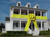 House With Yellow Bow