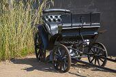 Black Wagon Without Horses Is Abandoned
