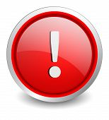 Attention red button - design web icon