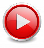 Video red button - design web icon