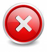 X red button - design web icon