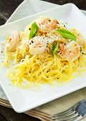 Spaghetti Squash & Shrimp
