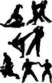 Karate Silhouette Vector