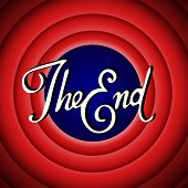 pic of fifties  - Vintage movie ending screen with calligraphic letters - JPG