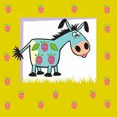 Fruit Donkey On Green