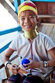 Padaung tribe girl, Myanmar