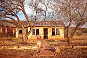 Casa abandonada en Cuervo, nuevo México
