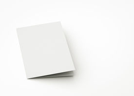 picture of pamphlet  - blank card to replace message or image on cover - JPG