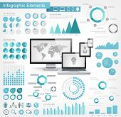 IT industrie Infographic elementen