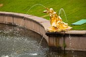 PETERHOF, RUSSIA - JULY 1: Fountains at Peterhof Palace, Russia, May 1, 2012 in Peterhof, Russia. Th