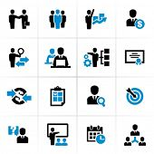 Business und Management-Icons