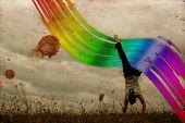 Color Trail (rainbow Flip)