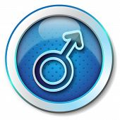 Gender man symbol icon