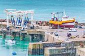 Industrial Port Of Granville, Normandy, France