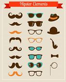 Retro hipster Vintage set van pictogrammen en illustraties