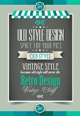 picture of vintage antique book  - Vintage retro page template for a variety of purposes - JPG