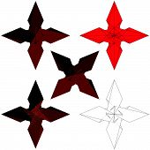 picture of iron star  - Ninja Stars Shuriken Weapon Isolated Illustration Vector - JPG