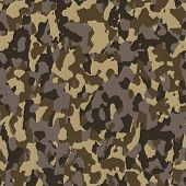 Brown Seamless Army Camouflage