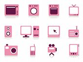 pic of televisor  - Home appliance objects set - JPG