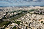 Aerial View On River Seine From The Eiffel Tower, Paris, France
