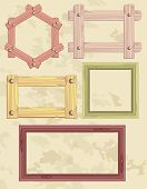 image of corbel  - the set of different frame from wood - JPG