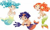 Two Baby Mermaids And A Baby Triton