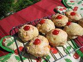 Cherry and lemon scones