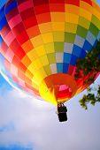 Raznouvetny Balloon In Clouds.