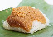 Thai Dessert In Banana Leaf
