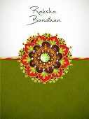 Indian festival Raksha Bandhan background with beautiful rakhi.