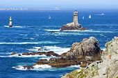 Lighthouse on Cape Sizun Pointe du Raz.