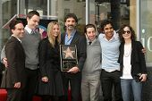 Chuck Lorre with the cast of 'Big Bang Theory'  at the Ceremony Honoring Chuck Lorre with the 2,380t