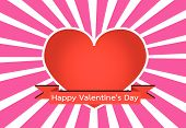 an images of Design  Heart for Valentines Day Background