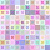 Retro multicolored circle pattern
