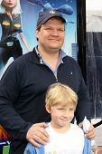 Andy Richter and son William  at the Los Angeles Premiere of 'Monsters Vs. Aliens'. Gibson Amphitheatre, Universal City, CA. 03-22-09