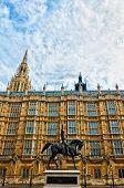 Richard I statue outside Palace of Westminster, London
