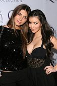 Brittny Gastineau and Kimberly Kardashian  at Queen Latifah's Birthday Party presented by Cover Girl