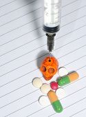image of methadone  - Drug abuse concept  - JPG