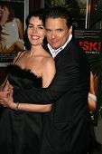 Monica Ramon and Damian Chapa  at the Charity Screening of 'Polanski Unauthorized' to Benefit the Children's Defense League. Laemmle Sunset 5 Cinemas, West Hollywood, CA. 02-10-09