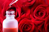 Dropper Bottle With Red Roses