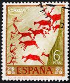 Rock Paintings In The Caves Of Spain